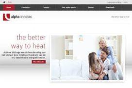 alpha innotec: nieuwe site met online productcatalogus en downloadcenter