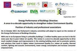 Vraag om focus op binnenklimaat bij EPBD-herziening