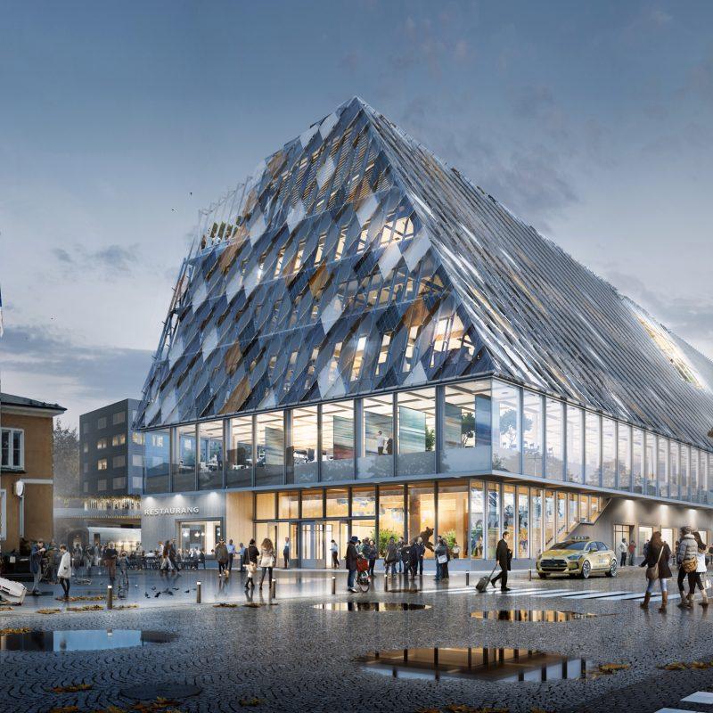 Växjö bygger nytt stads- och stationshus
