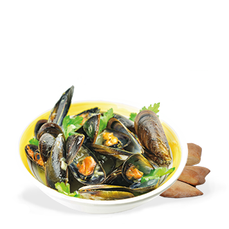 Peppered Mussels Menu