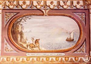 Villa Corsini a Mezzomonte - Particolare Affreschi - Tuscan Fresco Detail Orlando