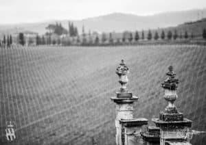 Villa Corsini a Mezzomonte Cotto dell Impruneta - Terracotta vase details Tuscan Hills