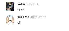 Automatic Door Opener Controlled Through Slack By Sakir Temel Visuality
