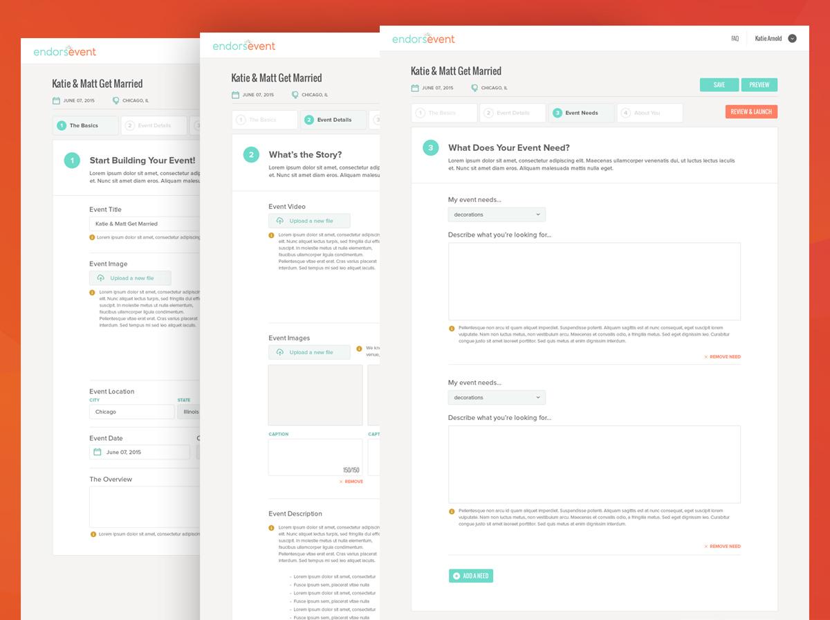 Event organizer interface