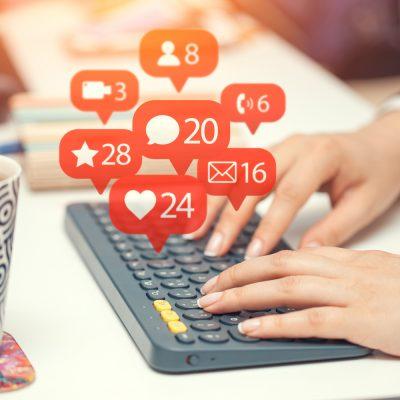 Sinnbild für Social Media-Aktivität