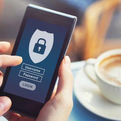 Ein geschütztes Mobilgerät mit Passworteingabe