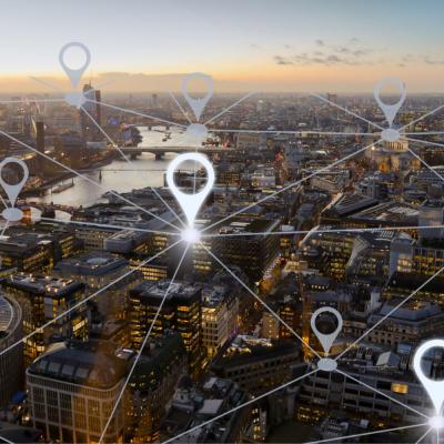 Symbolbild zur Vernetzung einer Stadt via Narrowband-IoT
