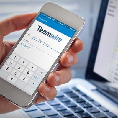Der Teamwire-Messenger auf einem Smartphone