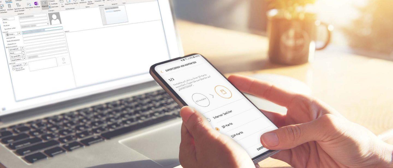 Samsung Kontakte Auf Sim Karte übertragen.Outlook Kontakte Von Android Oder Ios Importieren So Geht S