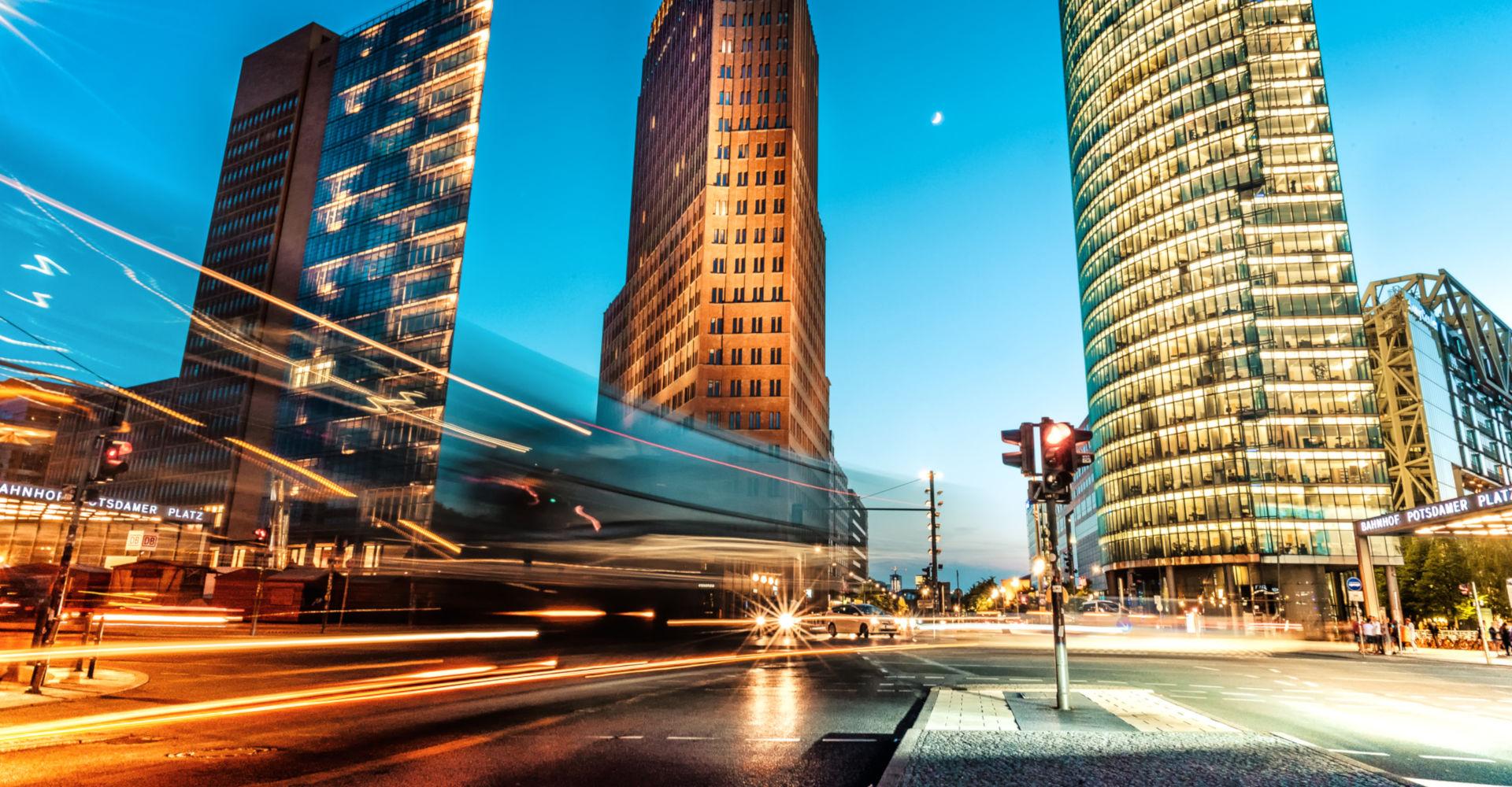Der Potsdamer Platz in Berlin am Nachmittag