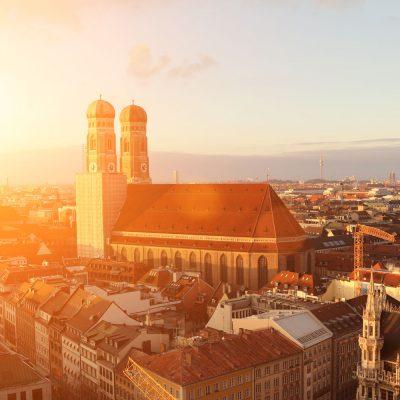 Stadtansicht von München mit Frauenkirche
