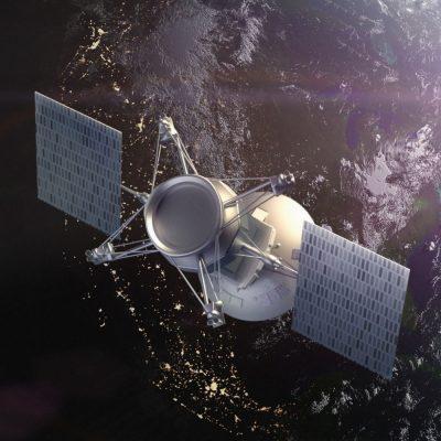Ein GPS-Satellit umkreist die Erde