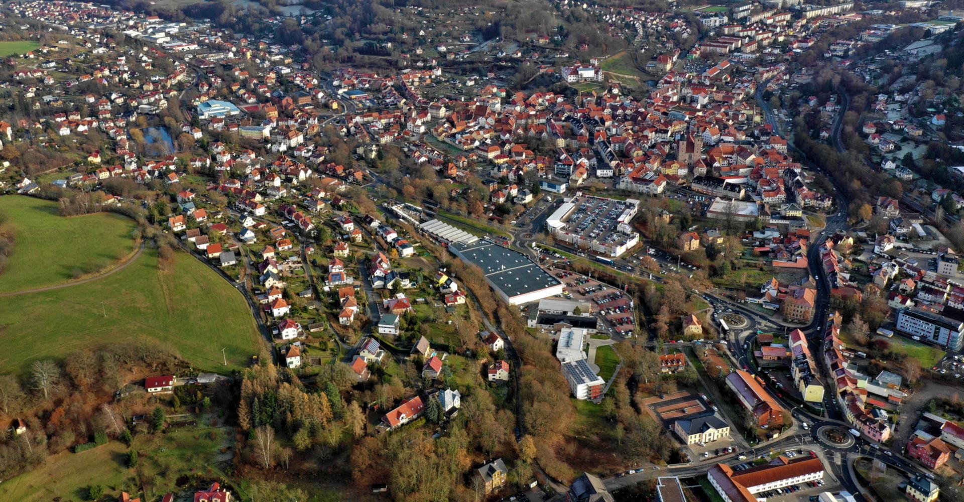 Die Stadt Schmalkalden im Luftbild
