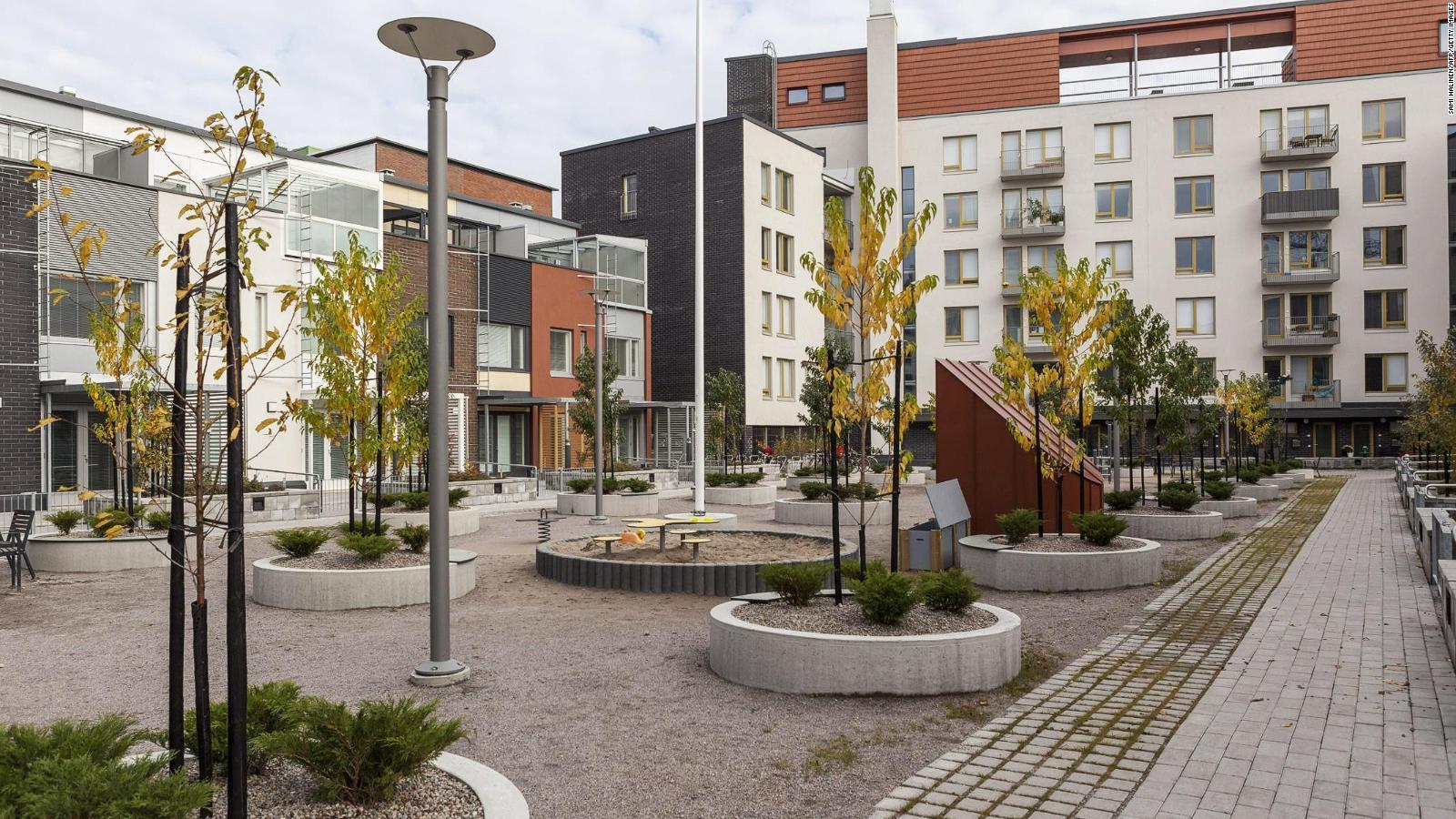 Stadtansicht der finnischen Stadt Kalasatama