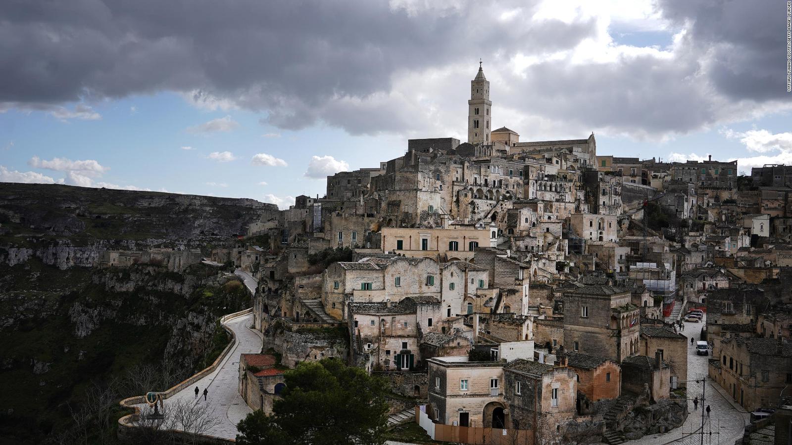 Die antike italienische Stadt Matera