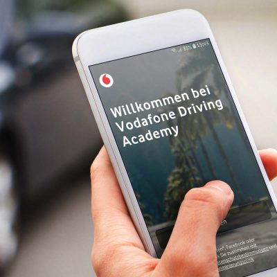 Screenshot der Driving Academy-App auf einem Smartphone