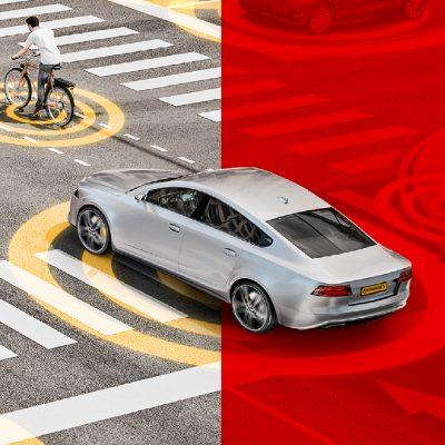 ernetzte Mobilität dank IoT, 5G, Cellular V2X und Mobile Edge Computing werden Sicherheit und Komfort im Straßenverkehr erhöhen. So können z. B. bereits heute Reifenpannen vorgebeugt und Unfälle vermieden werden.