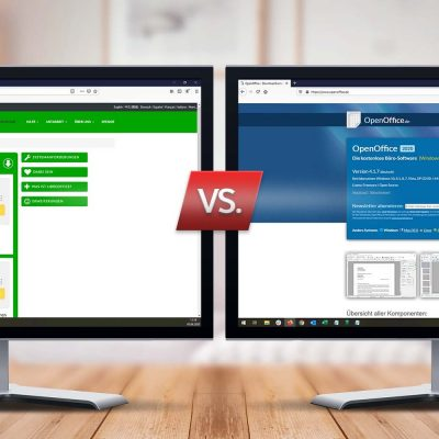 Symbolbild Libreoffice gegen OpenOffice