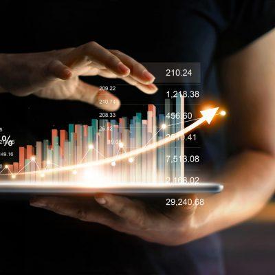 Schaubild-Visualisierung zur Umsatzsteigerung
