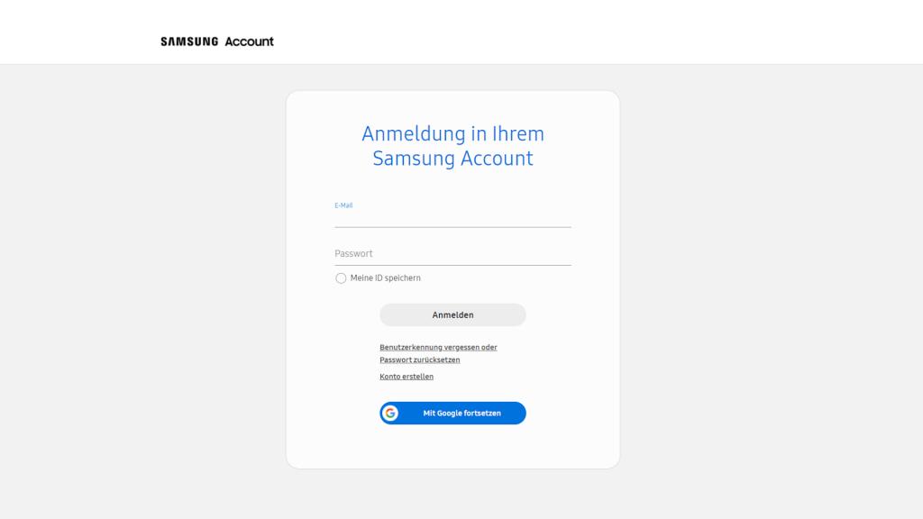 Samsung-Konto erstellen