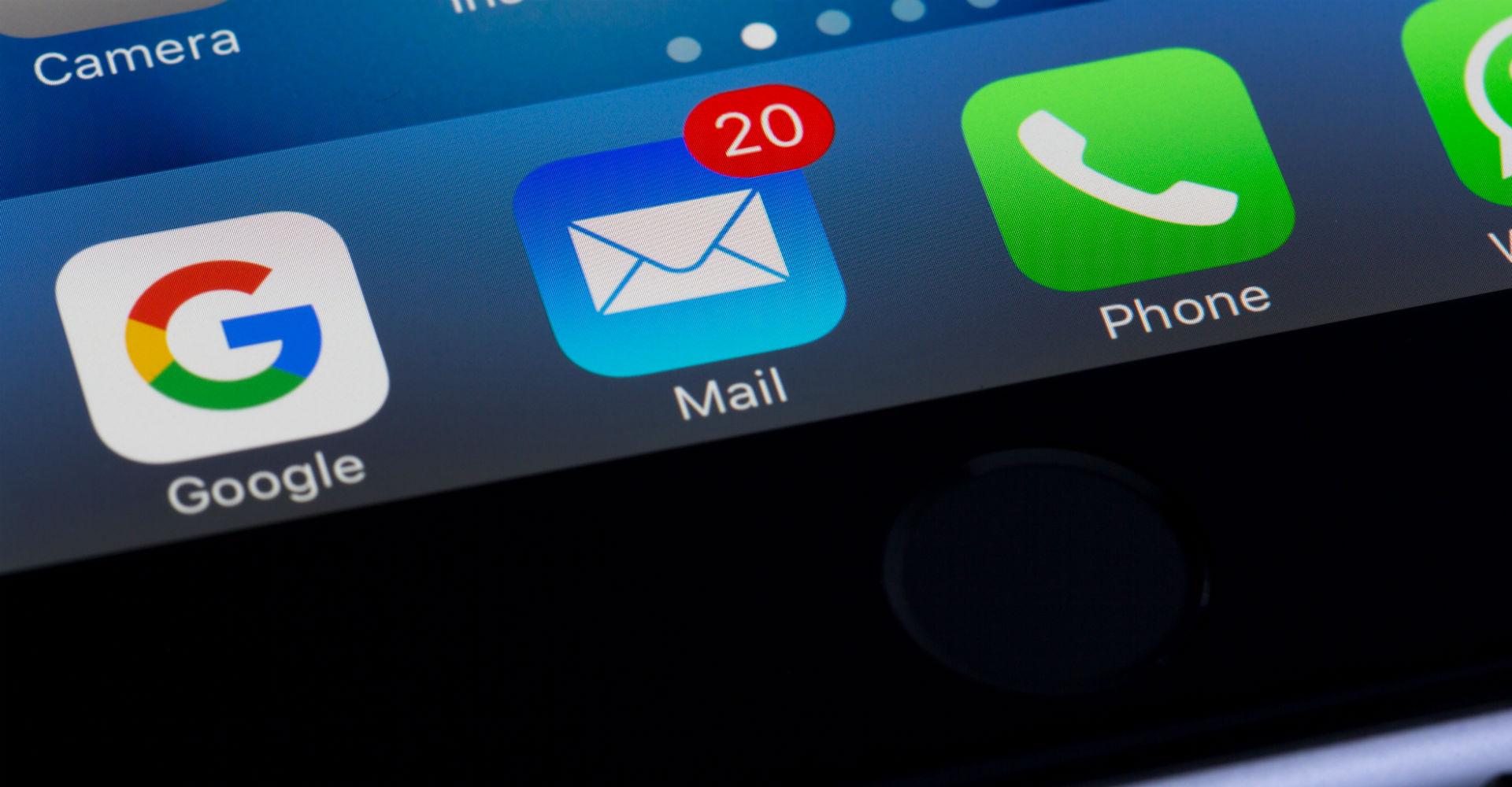 Apps auf dem Display eines iPhones.