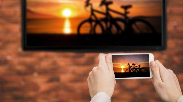 iPhone übertragt ein Bild auf den Fernseher