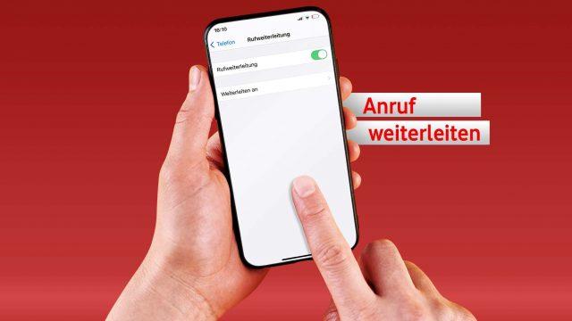 """Screenshot der Funktion """"Rufweiterleitung"""" am iPhone."""