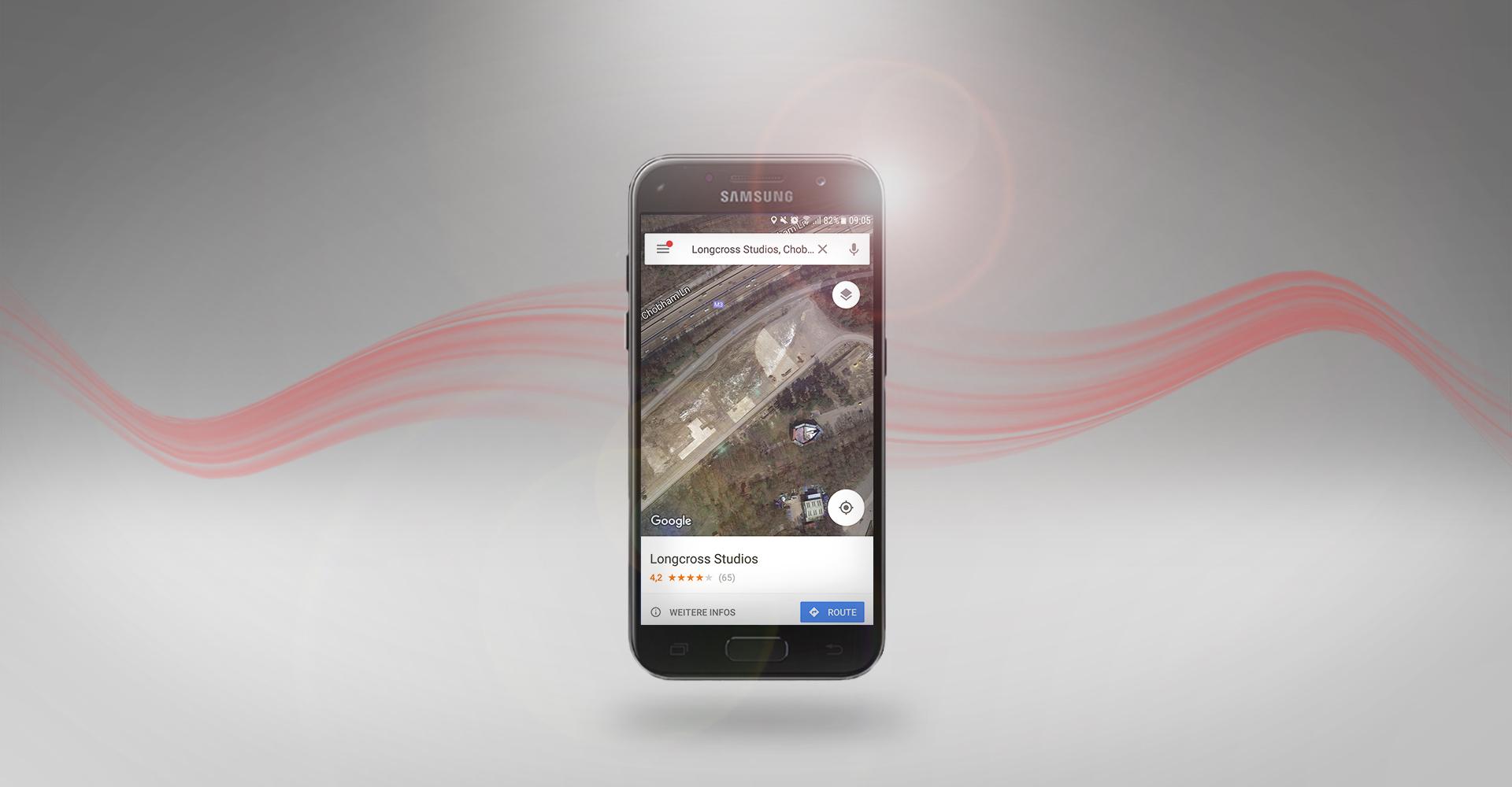 Screenshot des Millenium-Falken bei Google Maps.