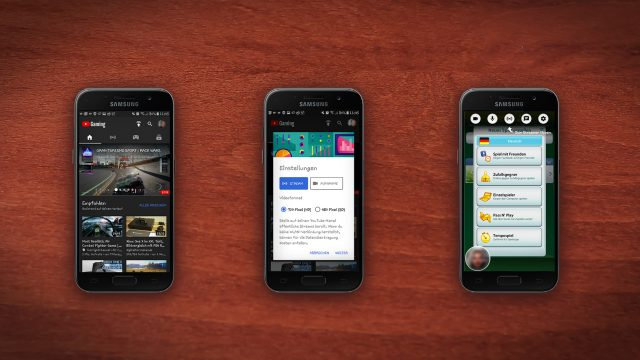YouTube Gaming auf einem Smartphone