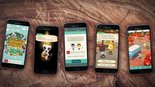 Screenshots von Animal Crossing Pocket Camp auf dem Smartphone