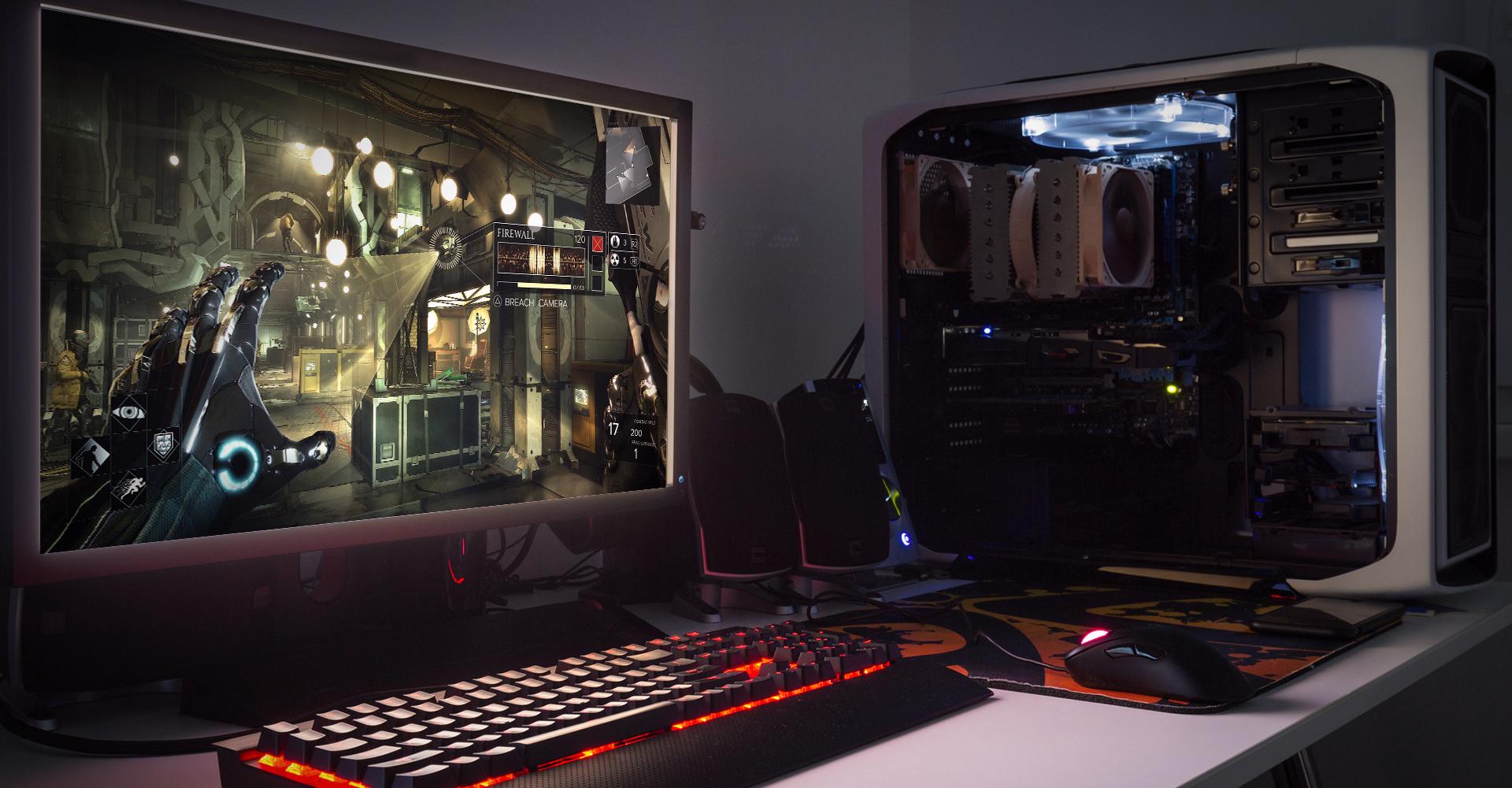 Gamer-PC auf dem Deus Ex läuft