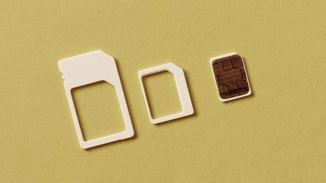 SIM-Karte in verschiedenen Größen.