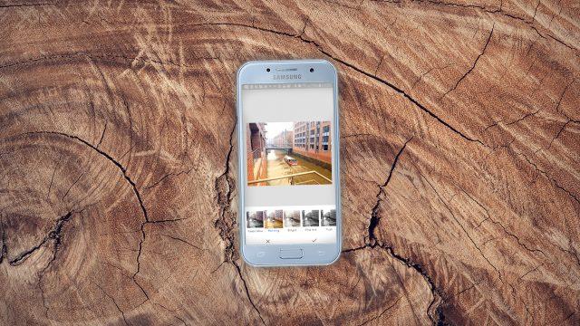 Screenshot der Snapseed-App auf einem Android-Smartphone