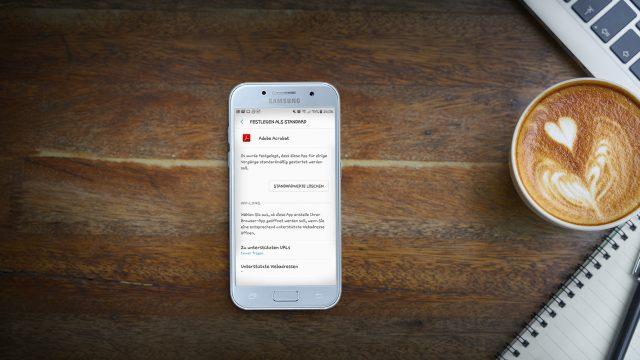 Screenshot des bei Android vorinstallierten App-Managers