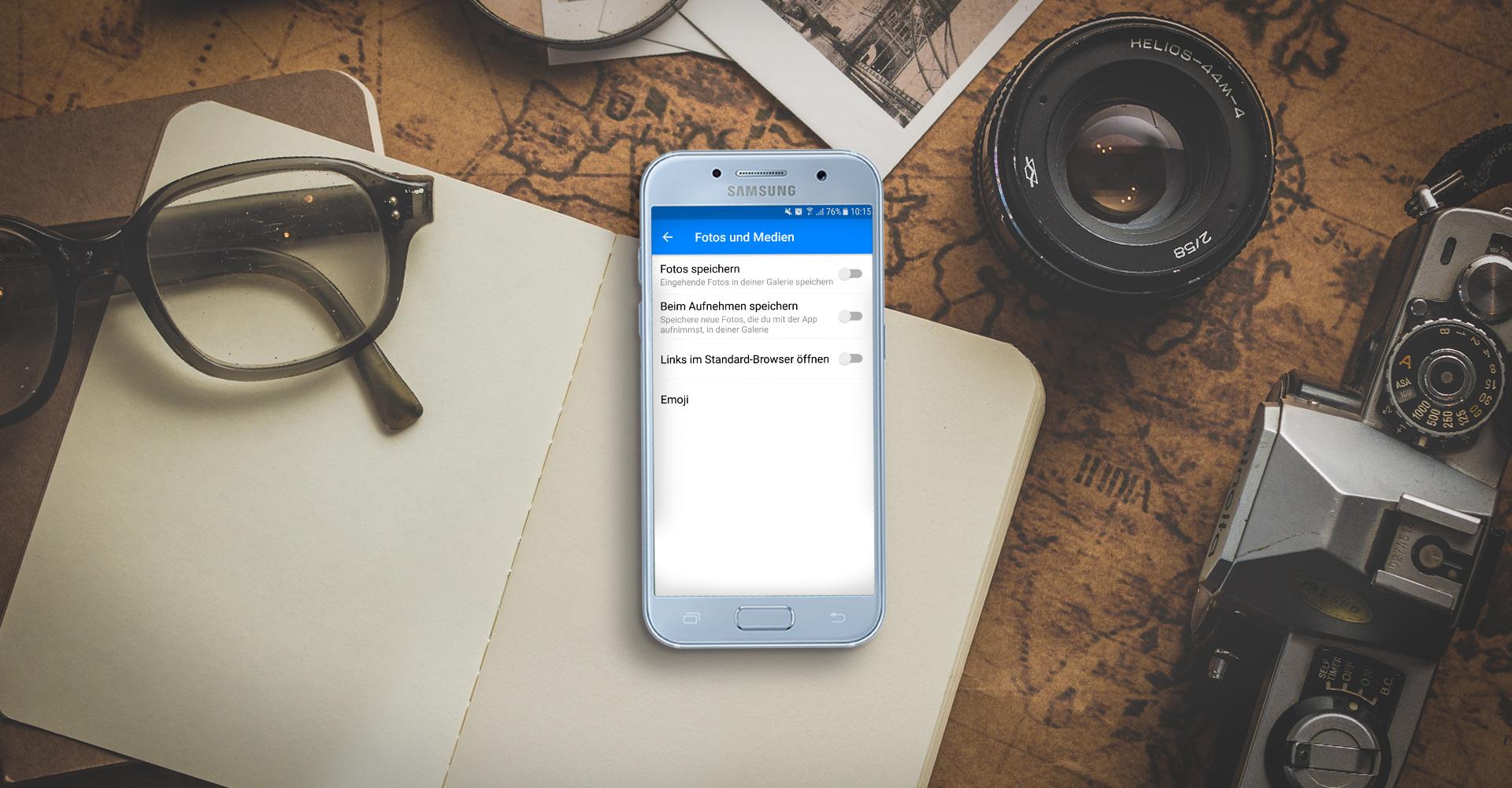 Screenshot der Facebook Messenger-Einstellungen auf einem Android-Smartphone.