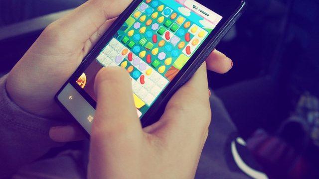 Candy Crush auf dem Smartphone