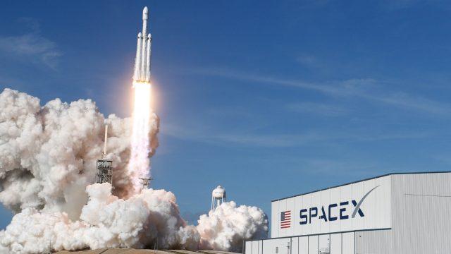 Die Falcon-Heavy-Rakete.