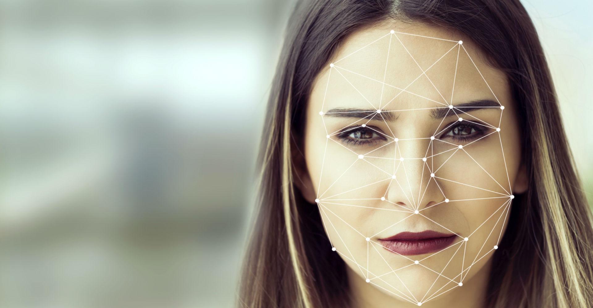 Konzept der Gesichtserkennung