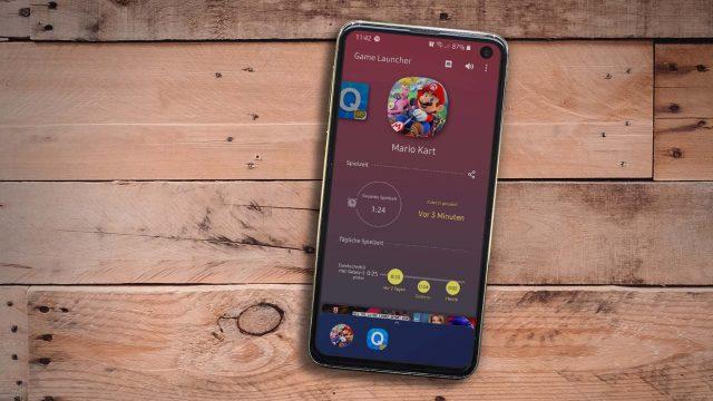 Samsung Game Launcher zum Verwalten mobiler Spiele.