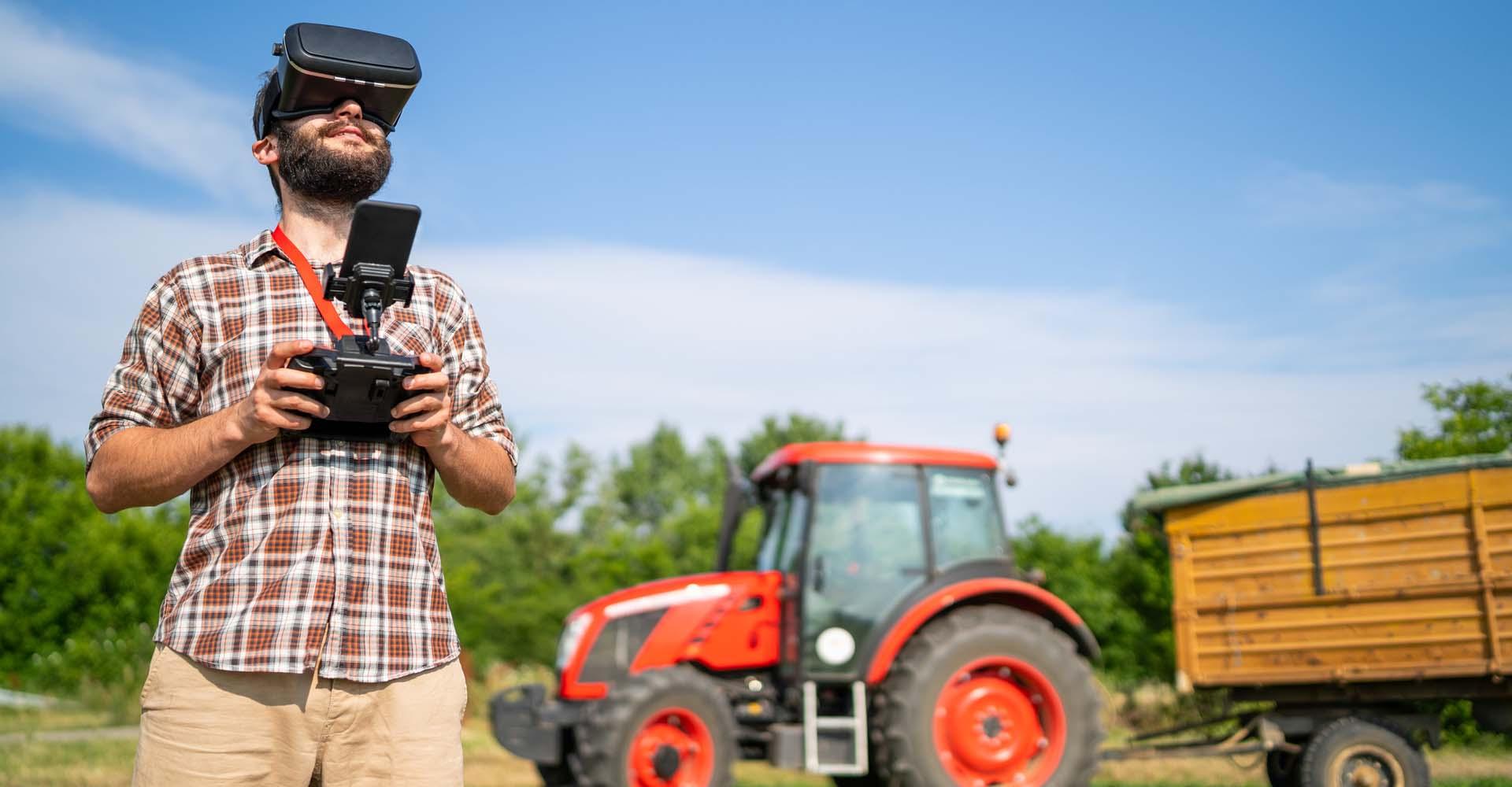 Drohnenpilot in der Landwirtschaft