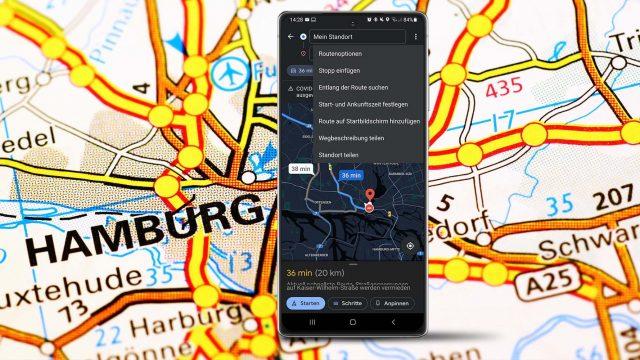 Standortteilung in Google Maps