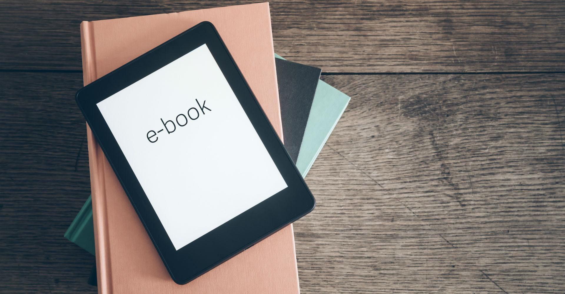 E-Book auf dem Tablet lesen.