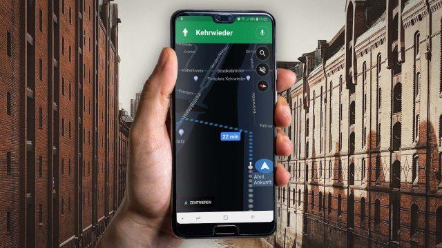 Den Dark Mode für die Navigation mit Google Maps nutzen.