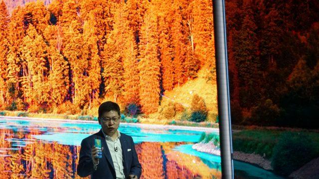 Huawei stellt die Kamera des Huawei Mate 20 Pro vor.
