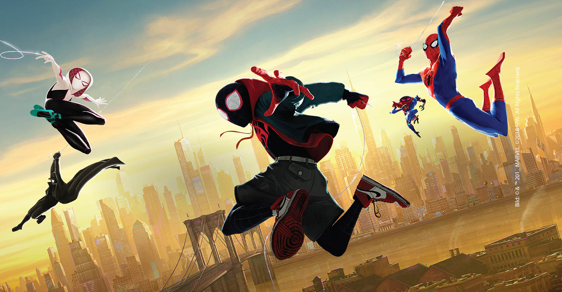 Marvel Damen Spider Man Into The Spider Verse Gwen and Miles