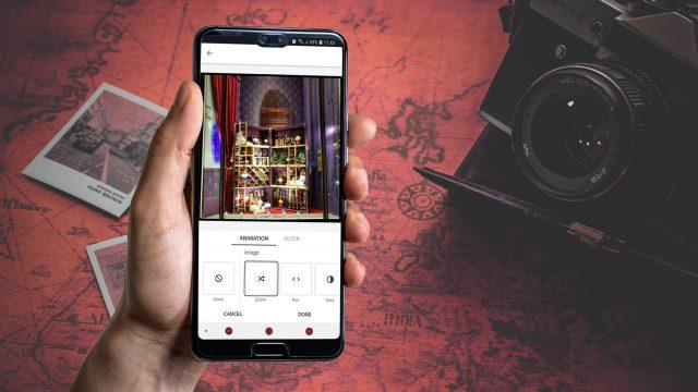 Die App Adobe Spark Post auf einem Huawei-Smartphone.