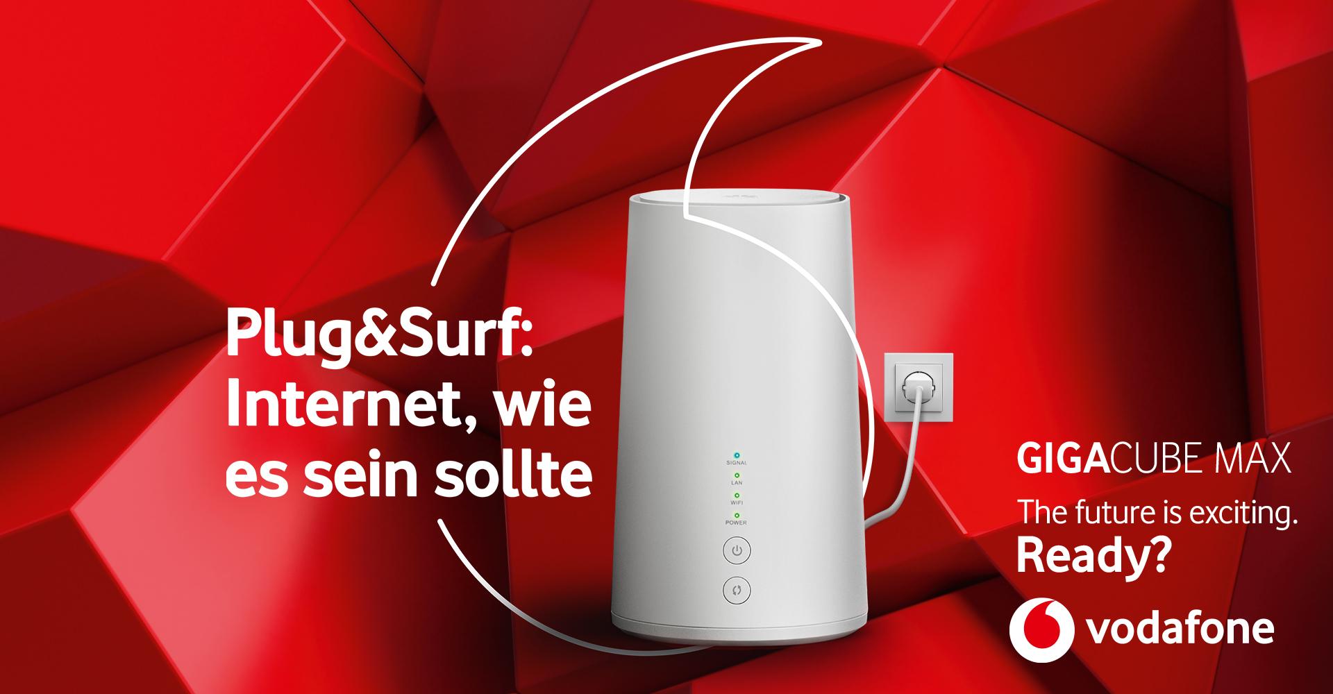 Internet überall, wo Du es brauchst mit dem Vodafone GigaCube