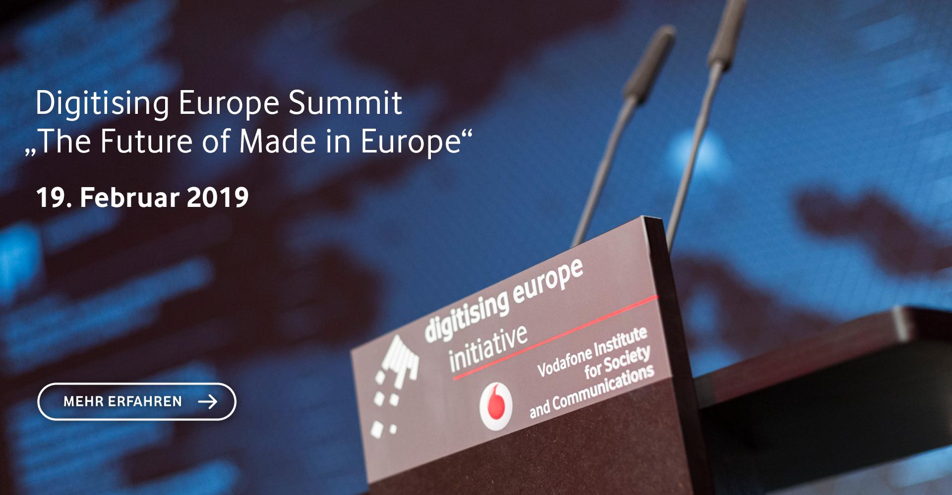 Digitising Europe Summit