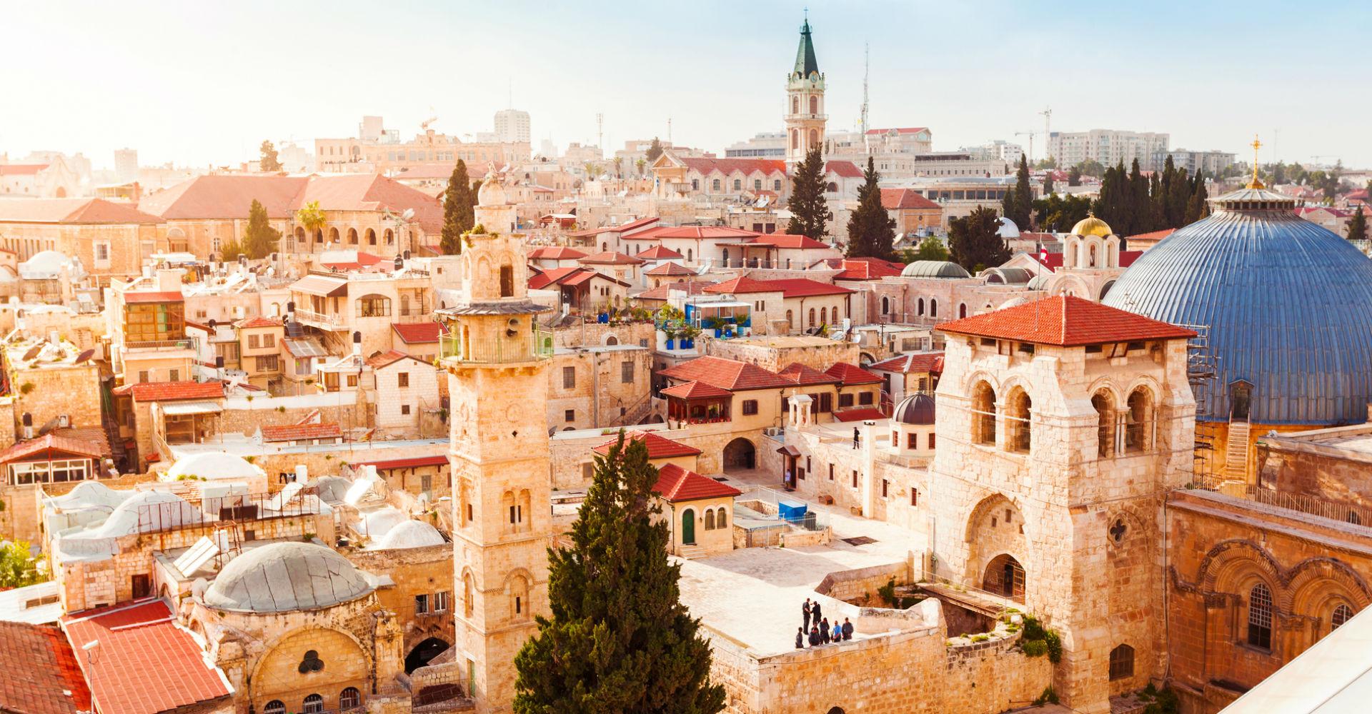 Blick auf Jerusalem in Israel, wo auch Hebräisch gesprochen wird.