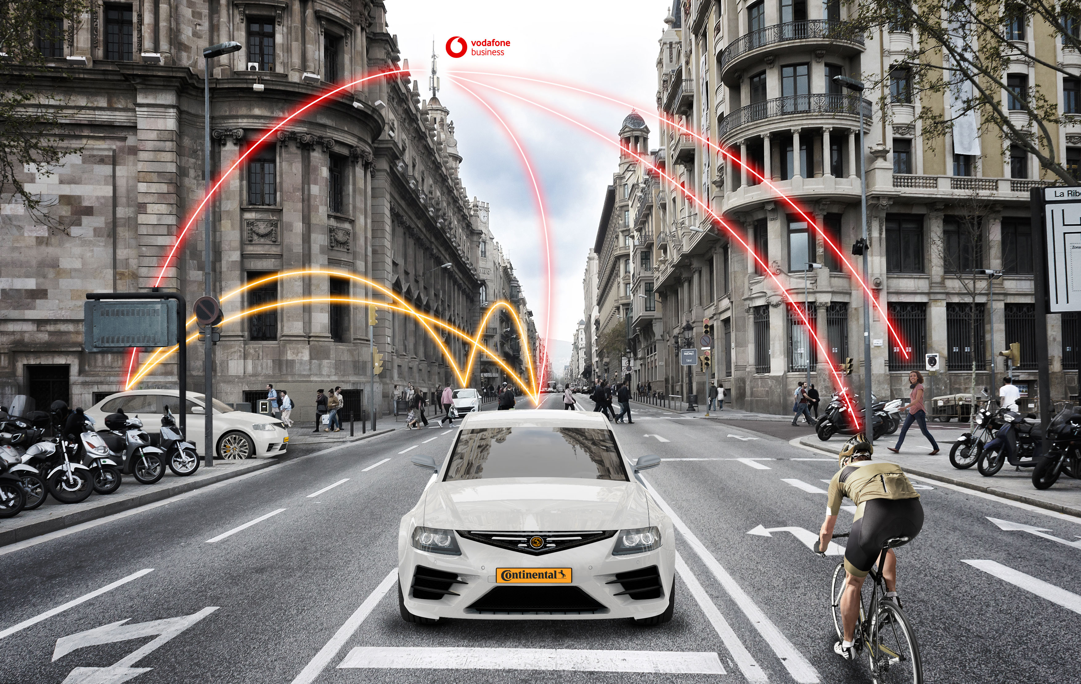 Vodafone und Continental arbeiten am vernetzten Straßenverkehr